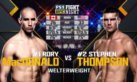 UFC nas časti borbom između Rory MacDonalda Stephen Thompsona! (VIDEO)