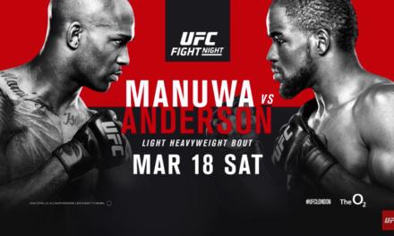 """Video najava za """"UFC London: Manuwa vs. Anderson"""" (VIDEO)"""