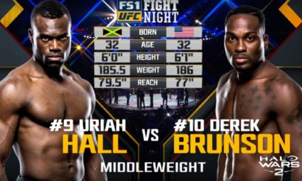 UFC nas časti borbom između Derek Brunsona i Uriah Halla! (VIDEO)