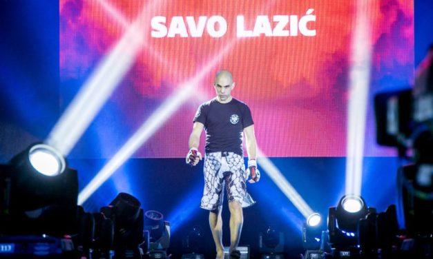 Savo Lazić pobedio tehničkim nokautom u prvoj rundi!