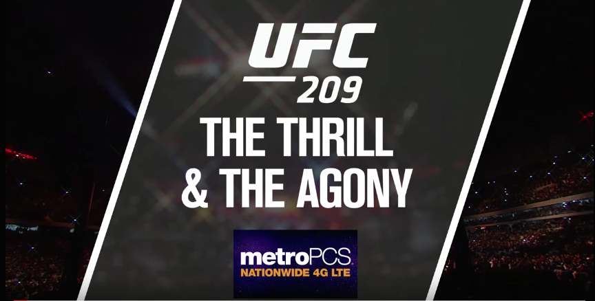 "Pogledajte ""The Thrill and the Agony"" za UFC209!"