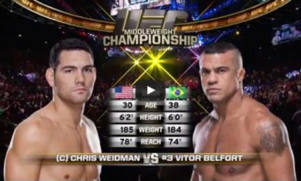 "Besplatna borba ""Chris Weidman vs. Vitor Belfort"" (VIDEO)"