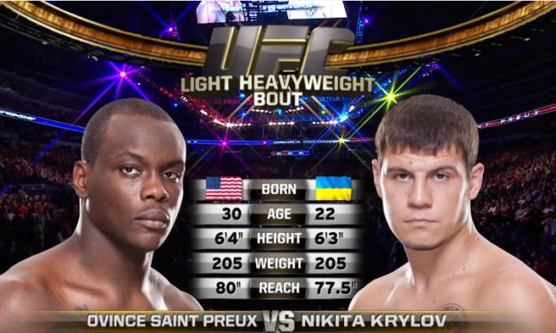 """Besplatna borba """"Ovince Saint Preux's vs. Nikita Krylov"""" (VIDEO)"""