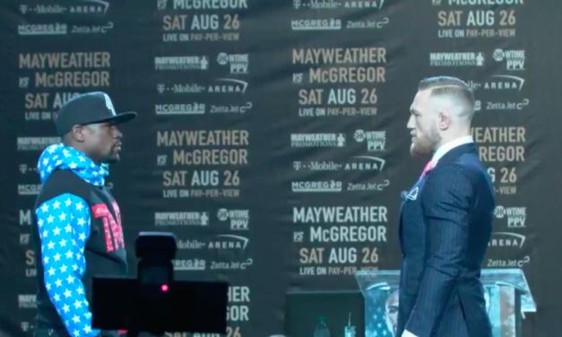 Pogledajte prvo suočavanje McGregora i Mayweathera!