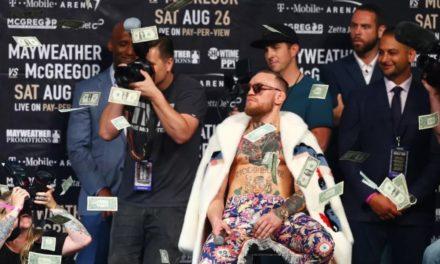 Floyd je bacao pare na McGregora sinoć u New Yorku! (VIDEO)