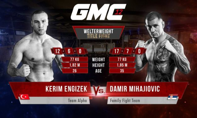 """Damir Mihajlović se bori za pojas u odličnoj Nemačkoj MMA organizaciji """"GMC""""!"""