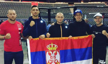 Rakić, Mihajlović i Veličković se slikali pored oktagona uoči borbi večeras!