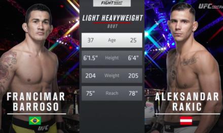 Pogledajte najbolje delove Rakićeve prve borbu u UFC-u! (VIDEO)