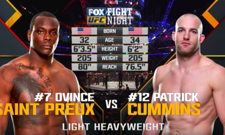 UFC nas časti borbom: Ovince Saint Preux vs Patrick Cummins! (VIDEO)