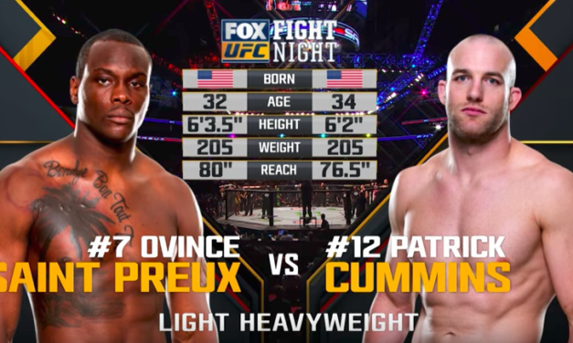 UFC nas časti borbom: Ovince Saint Preux vs Patrick Cummins! (VIDEO)