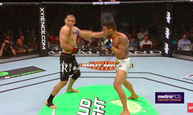 Prisetimo se kako je Rafael Dos Anjos nokautirao George Sotiropoulosa! (VIDEO)