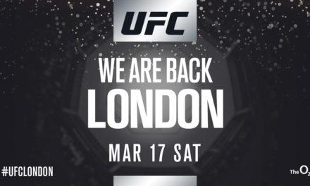 Tri borbe postale zvanične za UFC u Londonu!