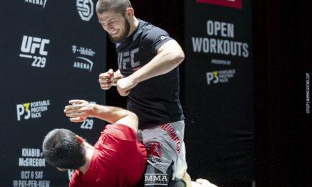 Trening za publiku uoči UFC229 sa Khabibom (VIDEO)