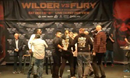 MEČ PRE MEČA: Haos u LA-u, umalo tuča Furyja i Wildera (VIDEO)